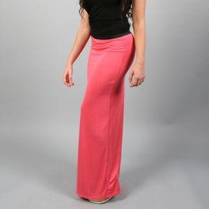 Maxi Skirt Coral Pink